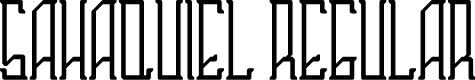 Preview image for Sahaquiel Regular Font