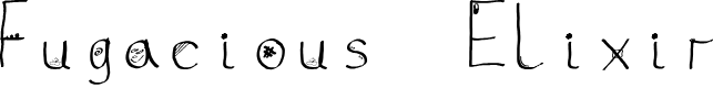 Preview image for Fugacious Elixir Font