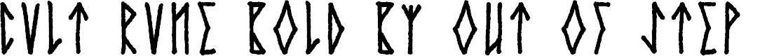 Preview image for Cvlt Rvne Demo Bold Font