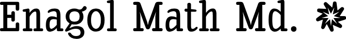 Preview image for Enagol Math Medium Font
