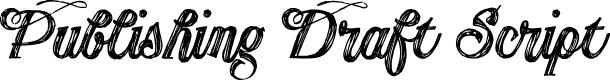 Preview image for Publishing Draft Script DEMO ve Font