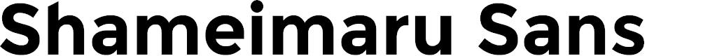 Preview image for Shameimaru Sans Font