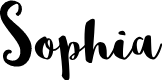Preview image for Sophia Font