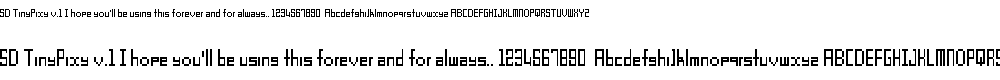 Preview image for SD TinyPixy v.1 Font