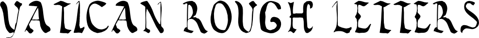 Preview image for Vatican Rough Letters, 8th c. Font