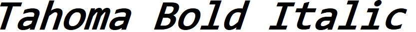 Tahoma Bold Italic