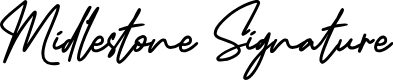 Preview image for Midlestone Signature Font