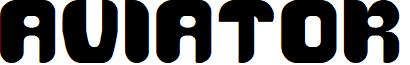 AVIATOR font