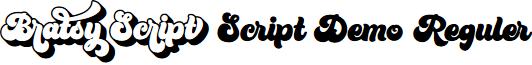 Bratsy Script Demo Reguler