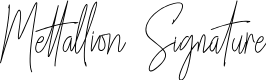 Preview image for Mettallion Signature Font