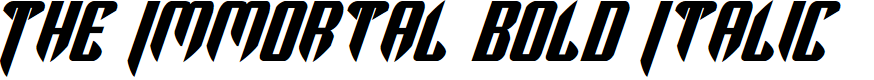 Preview image for The Immortal Bold Italic
