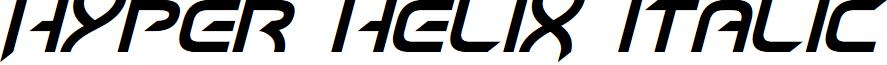 Hyper heliX Italic