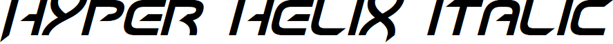 Hyper heliX Italic font
