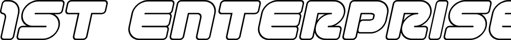 Preview image for 1st Enterprises Outline Italic