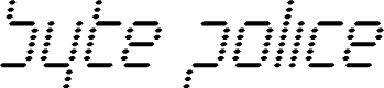 Preview image for Byte Police Condensed Italic