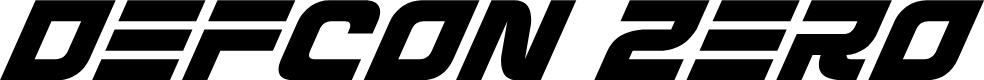 Preview image for Defcon Zero Super-Italic