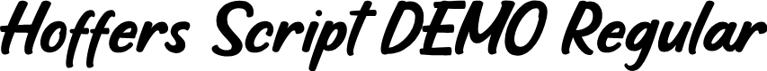 Preview image for Hoffers Script DEMO Regular Font