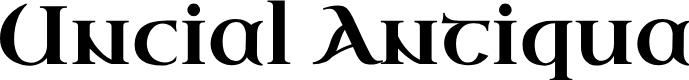 Preview image for Uncial Antiqua Font