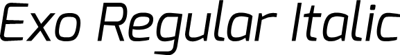Preview image for Exo Regular Italic