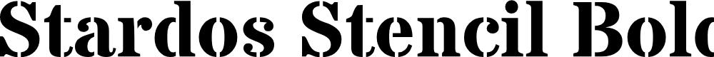 Preview image for Stardos Stencil Bold
