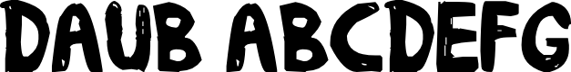 Preview image for daub Font