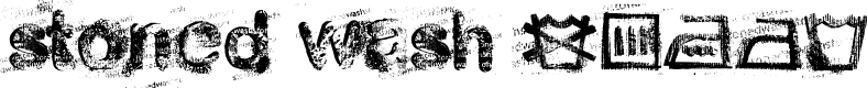 Preview image for stoned wash 6 Font