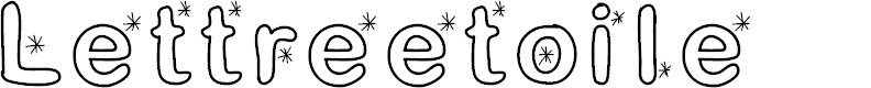 Preview image for Lettreetoile Font