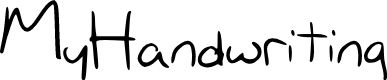 Preview image for My_Handwriting Font