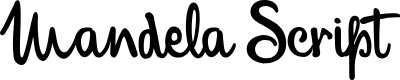 Preview image for MandelaScriptPersonalUse Font