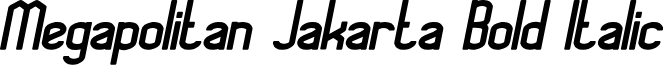 Megapolitan Jakarta Bold Italic