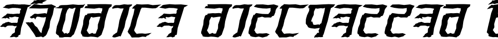Preview image for Exodite Distressed Bold Italic