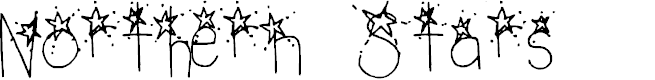 Preview image for Northern Stars Regular Font