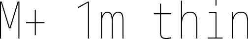 Preview image for M+ 1m thin