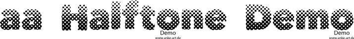 Preview image for aa Halftone Demo Font