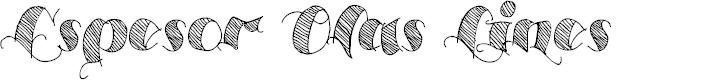 Preview image for Espesor Olas Lines Font