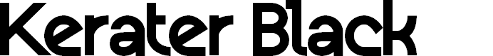 Preview image for Kerater Black Font