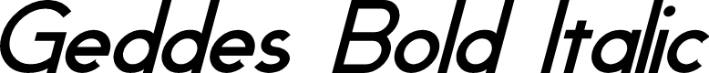 Preview image for Geddes Bold Italic