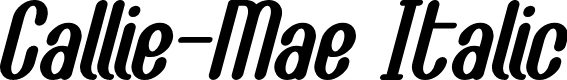 Preview image for Callie-Mae Italic