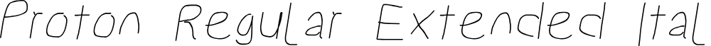 Proton Regular Extended Italic
