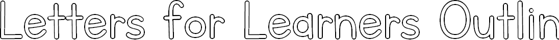 Preview image for Letters for Learners Outline