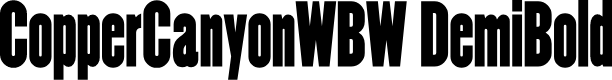 Preview image for CopperCanyonWBW DemiBold Font