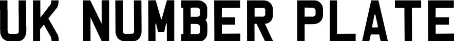 Preview image for UKNumberPlate Font