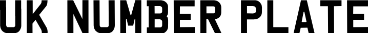 UKNumberPlate font