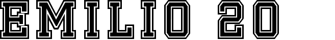 Preview image for Emilio 20 Font