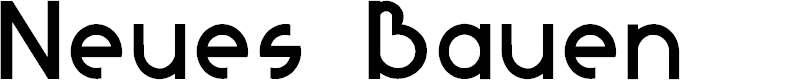 Preview image for NeuesBauen Font