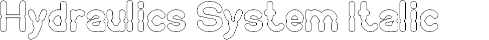 Preview image for Hydraulics System Italic