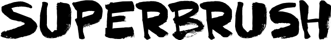 Preview image for DK Superbrush Regular Font