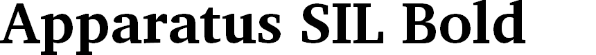 Preview image for Apparatus SIL Bold