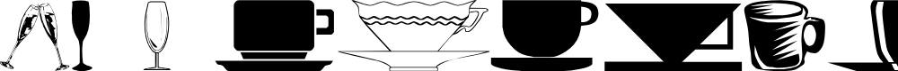 Preview image for wmdinnerware1 Font