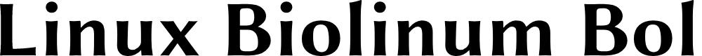 Preview image for Linux Biolinum Bold